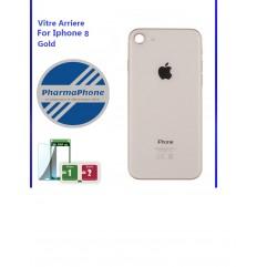 Vitre arrière - iPhone 8 - Or