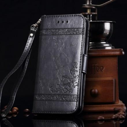 Portefeuille / Etuit iphone 7 Simili-cuir noir Dulcii